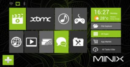 Minix Metro Launcher Screen