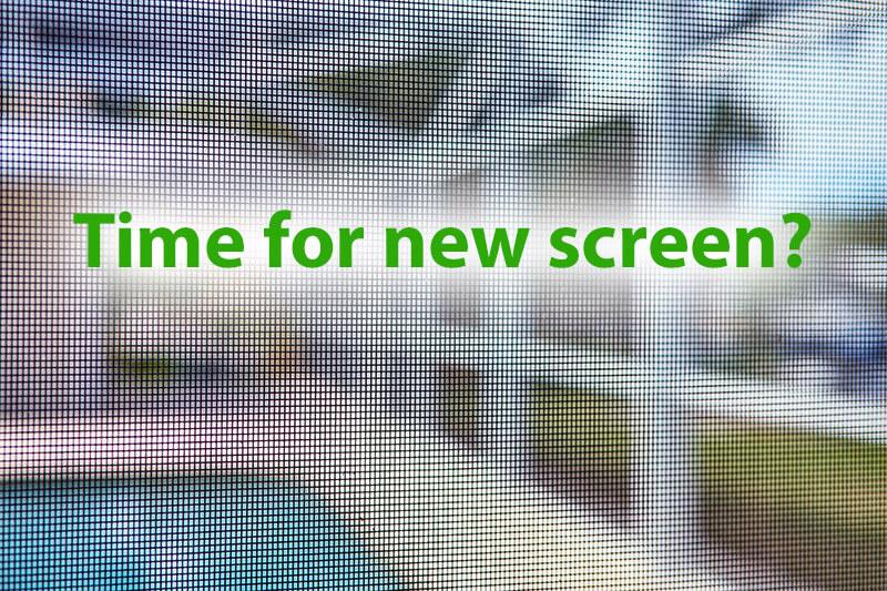 Rescreen your enclosure