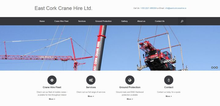 East Cork Crane Hire New Website