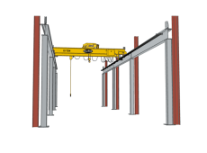 Semi Free Standing Top Running Bridge Crane