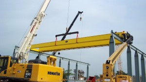 Installing a double girder