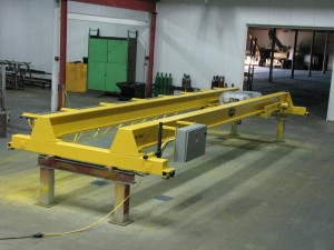 Top Running Double Girder Nested Trolley