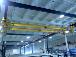 Underhung Single Girder Bridge Crane Picture