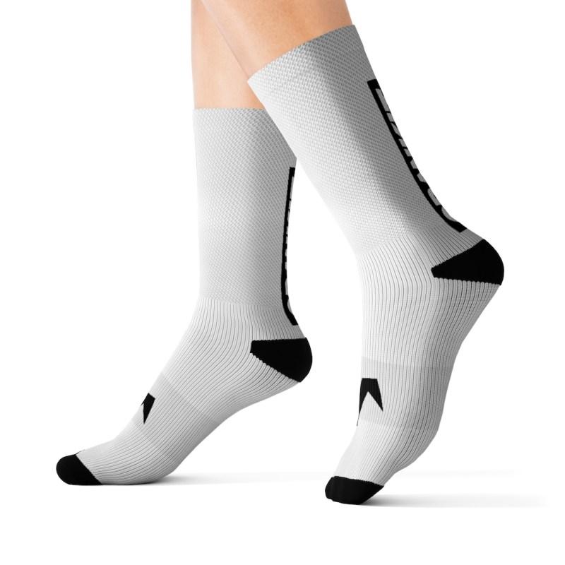 Block Sock White