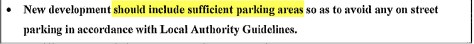 Cranleigh Design Statement 2008 point  re adequate parking