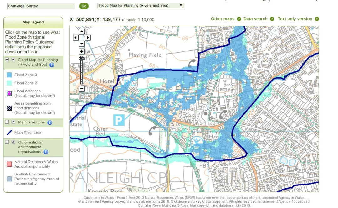 EA flood map for planning school sites