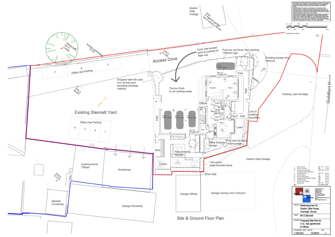 site plan Gaston Gate Stennetts Ltd