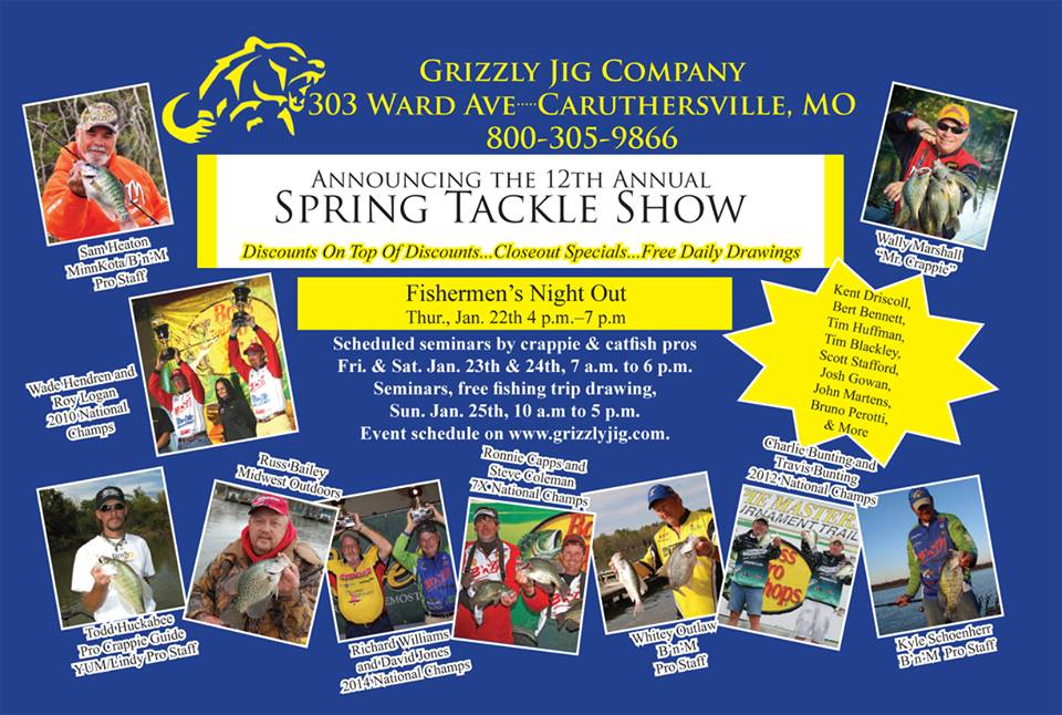 Grizzly Jig 12th Annual Spring Tackle Show « Crappie Crazy Crappie