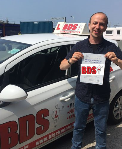 Passed his test on his first attempt