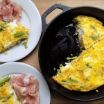 Crate Cooking Spring Seasonal Recipes Asparagus eggs ricotta frittata prosciutto