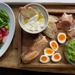 Crate Cooking Spring Seasonal Recipes Appetizer Board peas radishes prosciutto ricotta
