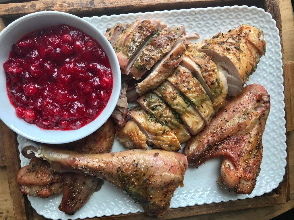 Crate Cooking Fall Autumn Easy Basic Simple Recipes Ingredients Thanksgiving Holidays roast Turkey cranberry compote
