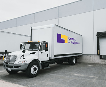 delivery truck at dock