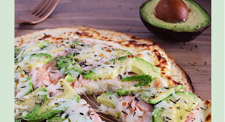 Avocado and Cream Cheese Smoked Salmon Pizza
