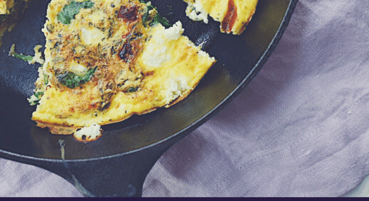 Spinach and Goat Cheese Breakfast Frittata