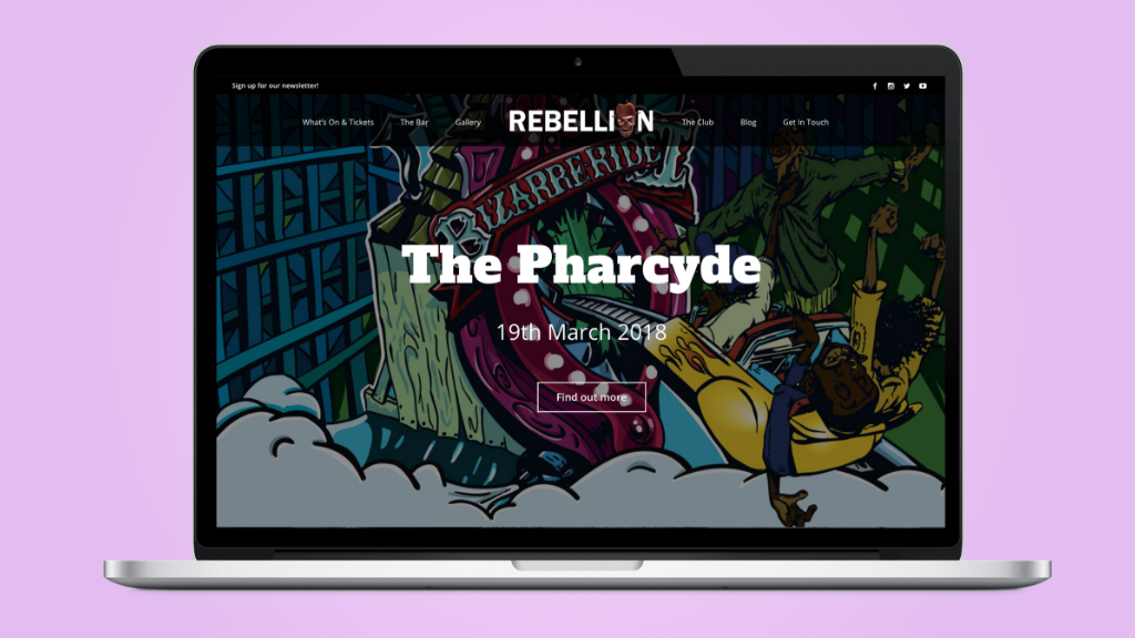 Responsive website design for Rebellion