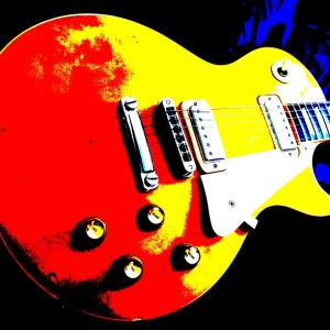 1977 Gibson Les Paul Deluxe Gold Top - Posterized