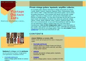 Vintage Guitars Info Website