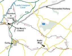 lothersdale loop map
