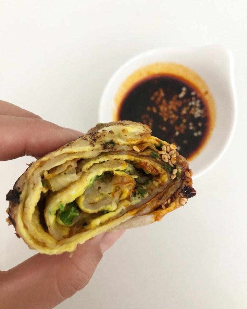 Jian Bing Taiwanese Egg Crepe Roll