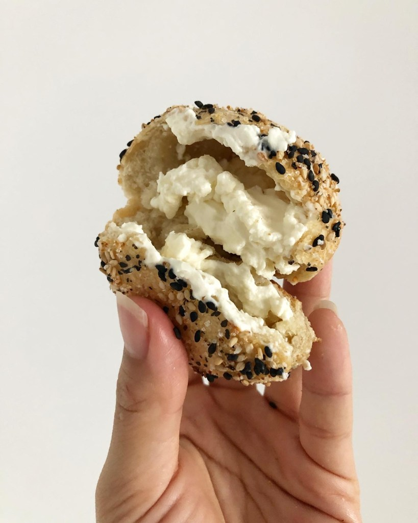 Overnight Sourdough Cream Cheese Stuffed Bagel Bites
