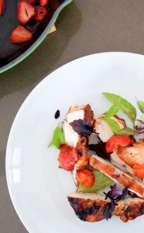 Cinnamon Paprika Crusted Chicken and Balsamic Roasted Strawberries-020