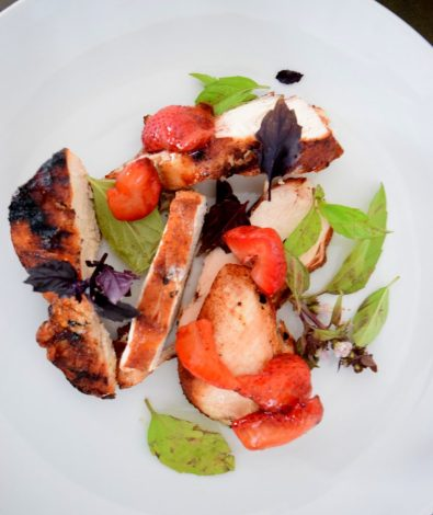 Cinnamon Paprika Crusted Chicken and Balsamic Roasted Strawberries-022