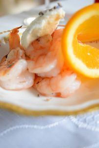 Grilled Shrimp with Cardamom Orange Lavender Cream-003