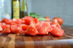 Balsamic Basil Garden Tomatoes