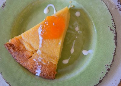 Country Cottage Peach Pudding Pie-024