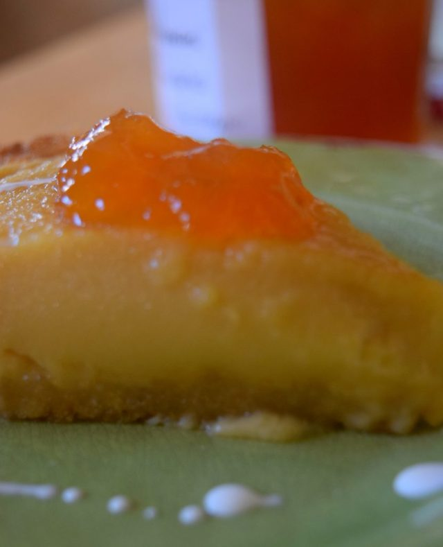 Country Cottage Peach Pudding Pie-027