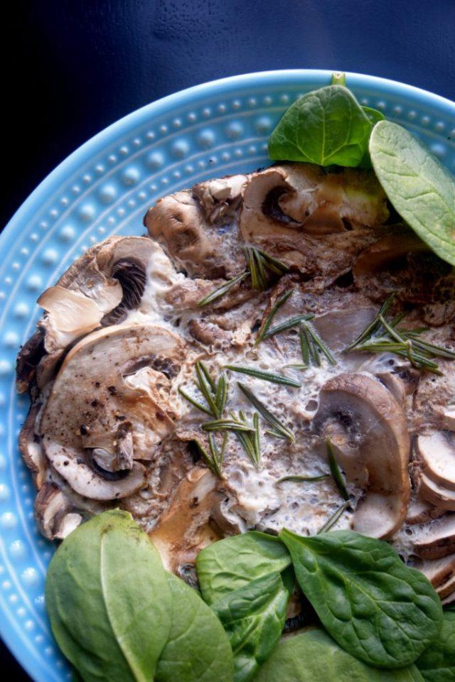 Pomegranate Rosemary Mushroom Fritatta-011