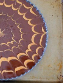 Chocolate Peanut Butter Pretzel Tart-013