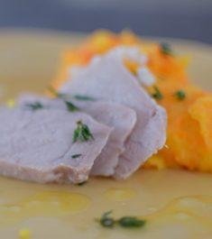 Lemon Carrot Mash and Roasted Pork Loin-005
