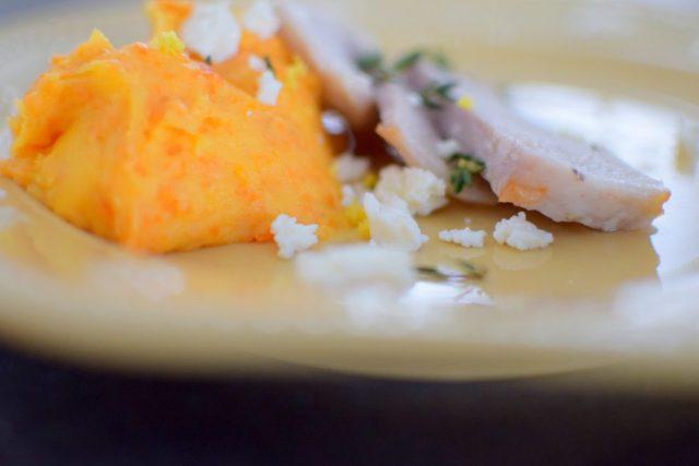 Lemon Carrot Mash and Roasted Pork Loin-015