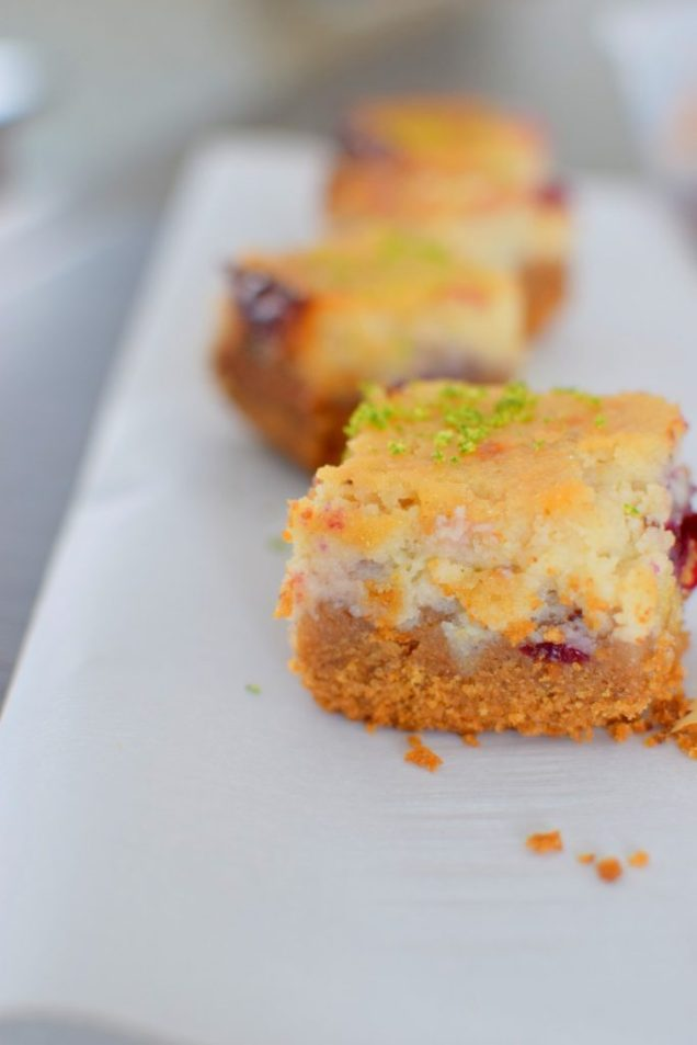 Blackcurrant Lime Cheesecake Bars-028