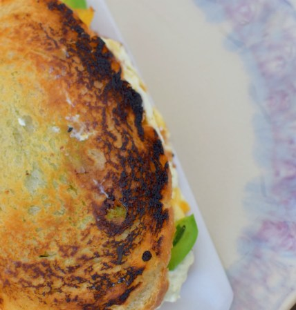 Chevre, Avocado, & Salted Honey Cantaloupe Jam Grilled Cheese-009