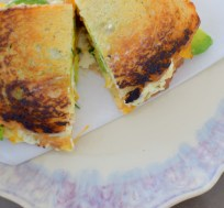 Chevre, Avocado, & Salted Honey Cantaloupe Jam Grilled Cheese-013
