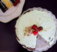 Rustic Pistachio Choclolate Vanilla Layer Cake-017