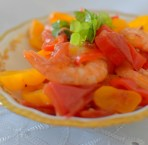 Spicy Lemon Tomato Broth Poached Shrimp-009