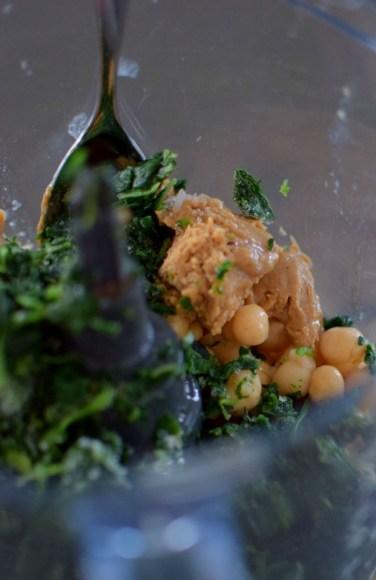 Spinach Garbanzo Peanut Puffs