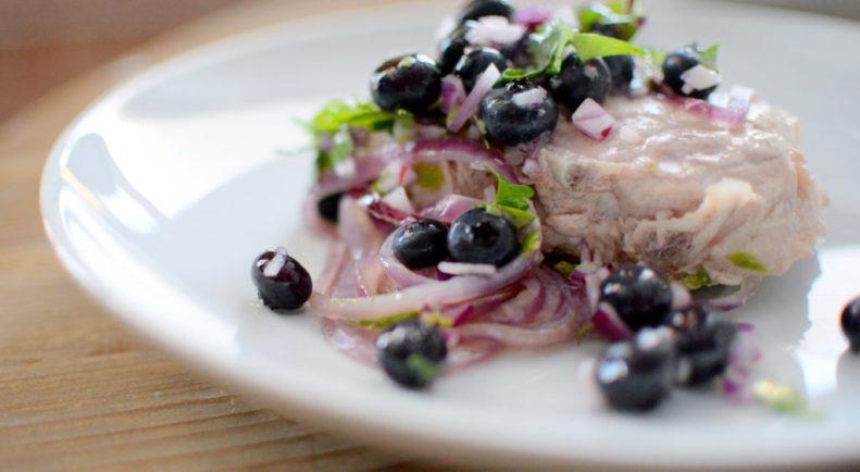 Blueberry Cilantro Salsa & Pan Fried Pork Chops-002
