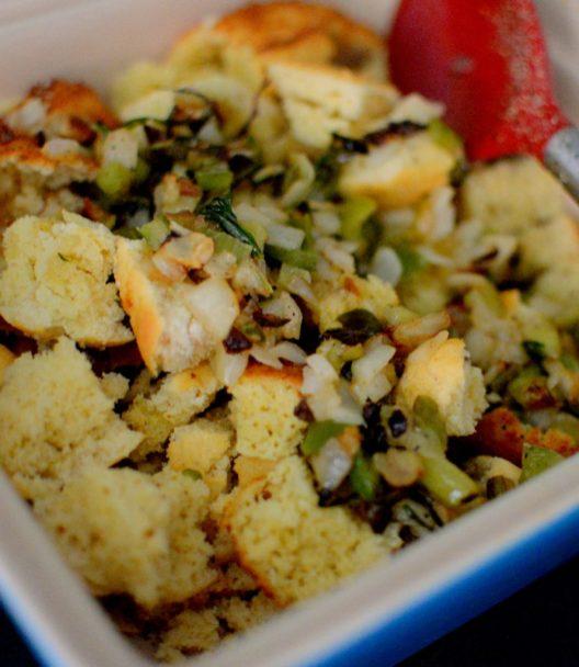 Crispy Cornbread Crouton Stuffing-003