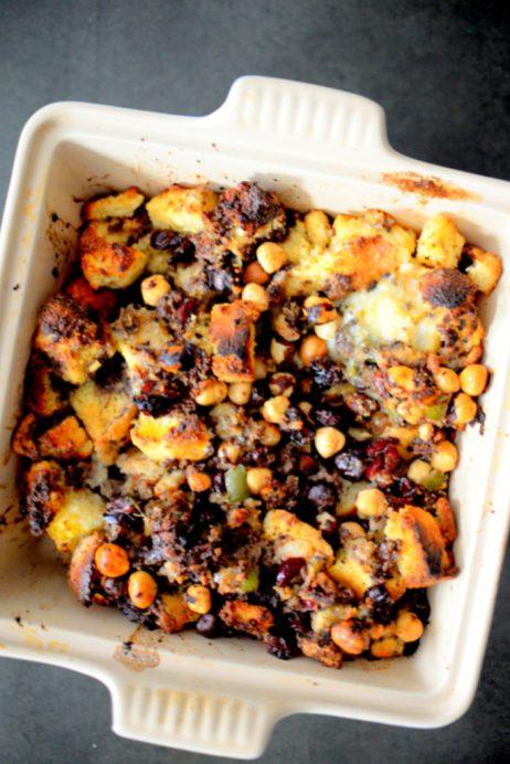 Crispy Cornbread Crouton Stuffing-009