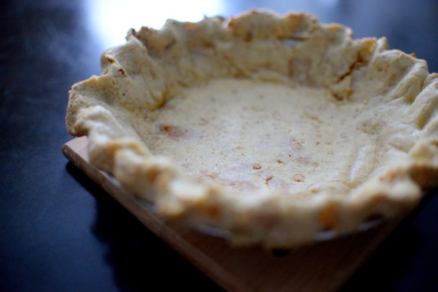 Salted Caramel Pear Cream Pie