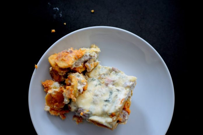 Caribbean Pork Plantain Sweet Potato Lasagna-017