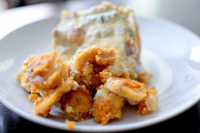 Caribbean Pork Plantain Sweet Potato Lasagna-018