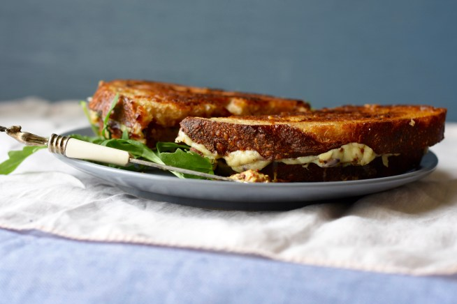 Fig Arugula Grilled Cheese | Cravings & Crumbs