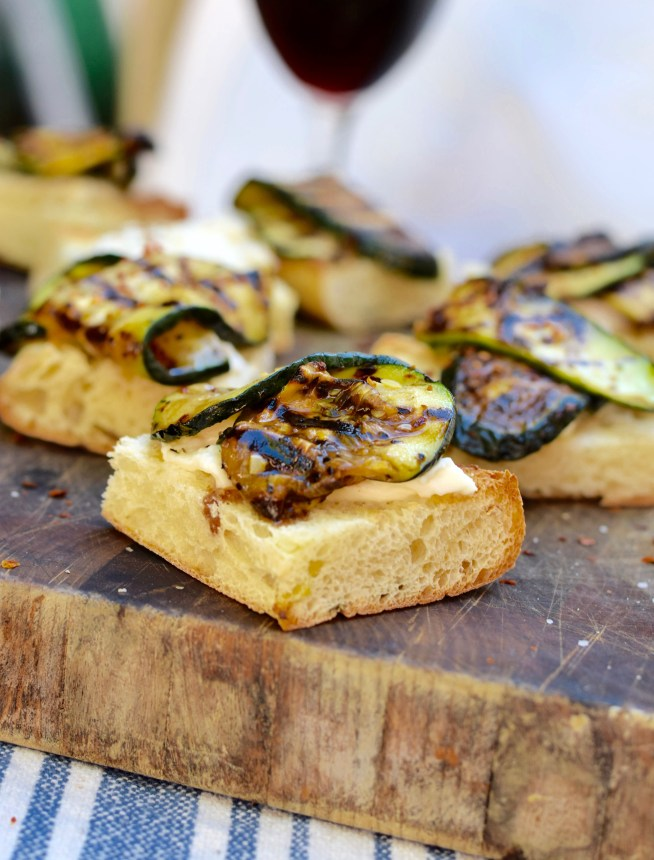 Grilled Zucchini Crostini | Cravings & Crumbs