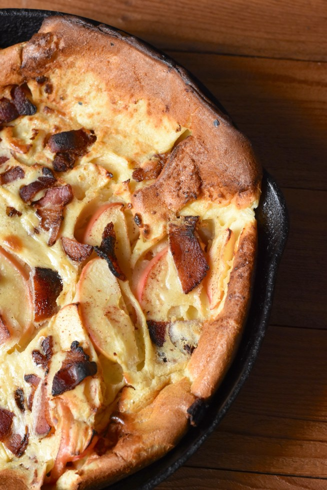 Apple Bacon Dutch Baby | Cravings & Crumbs